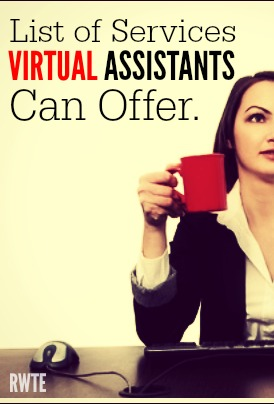 Are you wondering what services you can offer working from home as a virtual assistant? This post has lots of ideas to get your wheels turning.