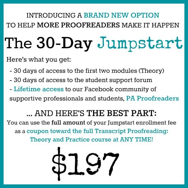 30 Day Jumpstart