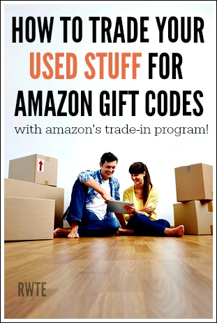 Do you have used stuff you need to de-clutter in your house? Do you also need some Amazon gift codes? Then you'll be happy to know you can trade your stuff in at Amazon in exchange for gift codes! They take all kinds of items for trade.