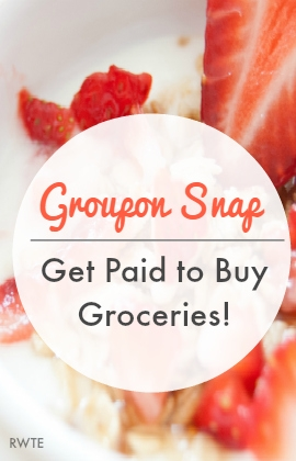 Want to get actual cash for buying certain groceries? You can do so with Groupon Snap. All you need is a computer, tablet, or smartphone. They pay by check once you have $20 earned.