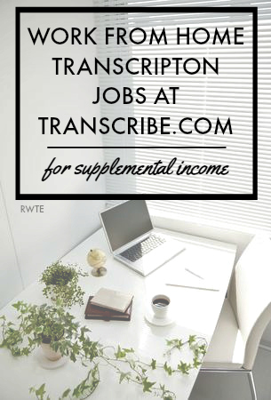 Work from home transcription jobs at Transcribe.com. Great for earning supplemental income from home.