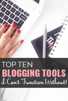 In the five years I've been blogging, my list of must-have blogging tools has grown quite a lot! This post is a rundown of my ten favorite, must-have tools. If you blog, you may want to check these out, too.