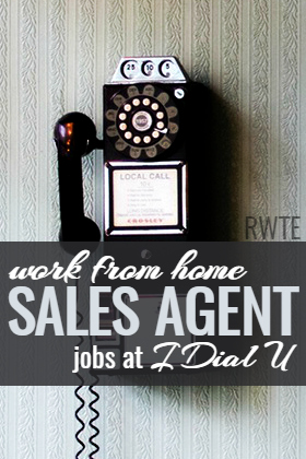 I Dial U is a company that regularly hires work at home sales agent. This is commission-based work, but the hours are very flexible.