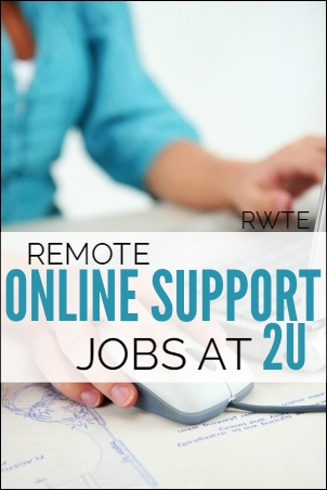 Work from home customer and tech support jobs at 2U. Good pay, highly rated company.