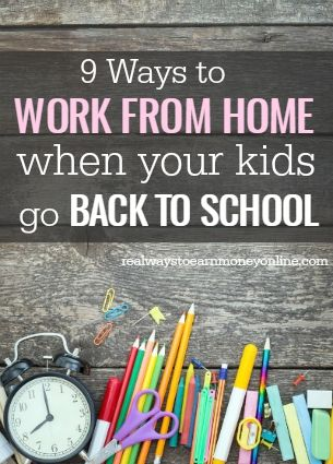 Do you want to find a way to work from home while your kids are at school? This post has a list of 9 different ways.
