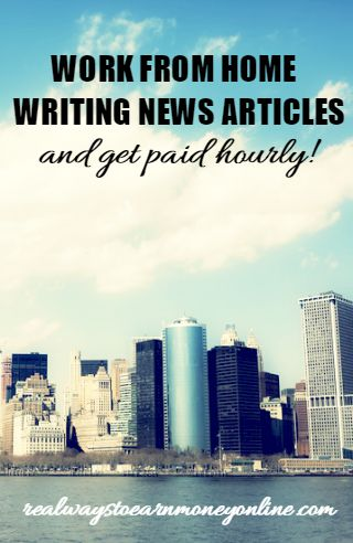 SmartBrief is a company that hires freelance writers to write short news articles, and they pay hourly.