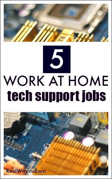 A list of five work at home tech support jobs for those who are technically savvy and inclined.