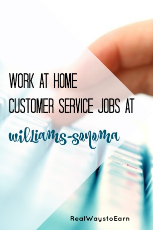 Do you live in or near The Colony, TX? Then you may be able to get a work at home customer service job with Williams-Sonoma.
