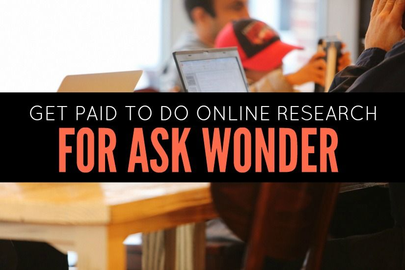Become an Online Researcher For Wonder