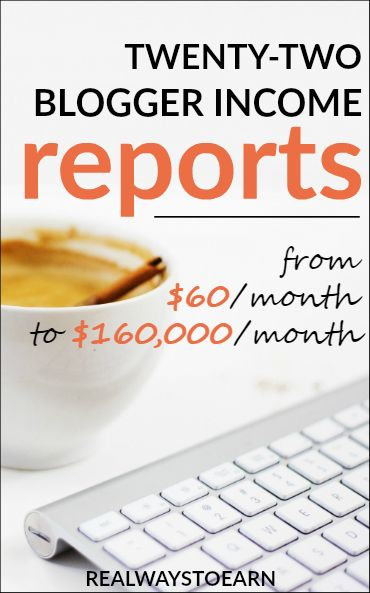 Blogging For Money - A list of 22 blogger income reports to inspire you! From $60 to $160,000 a month.