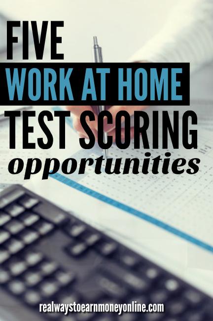 5 work at home test scoring jobs