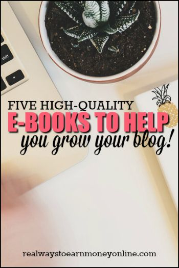 A list of five high-quality blogging e-books I've read to help you grow your blog.