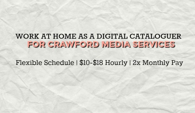 Crawford Media Services is Hiring Remote Digital Cataloguers