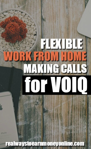Work at home making calls for VOIQ.