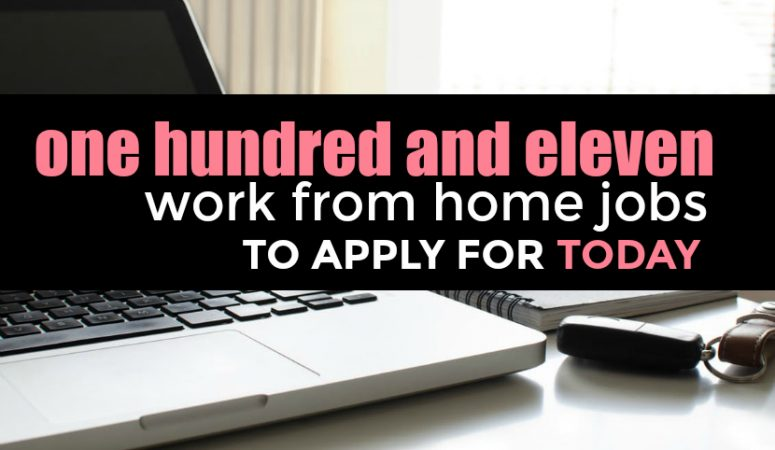 The Massive List of 111 Work From Home Jobs