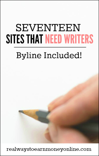 17 writing sites looking for writers now -- byline included!