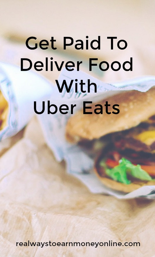Get paid to deliver food with Uber Eats.