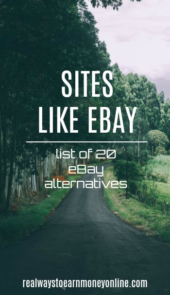 Sites like eBay aren't as few and far between as you might think. In this post, we list off twenty different eBay alternatives to sell your stuff online.