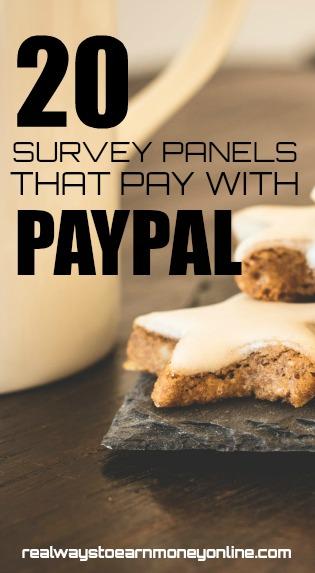 20 online survey panels that pay via Paypal.