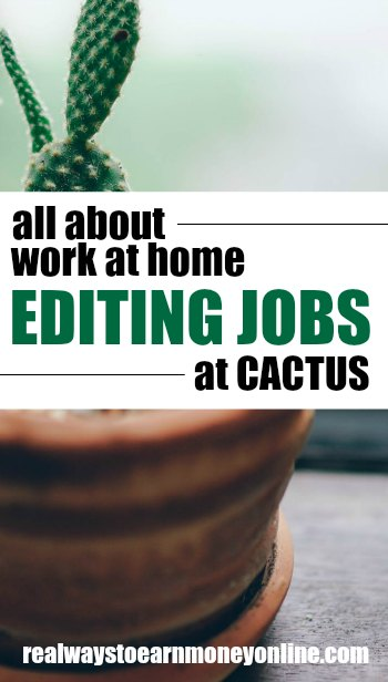 All about work at home editing jobs at CACTUS.