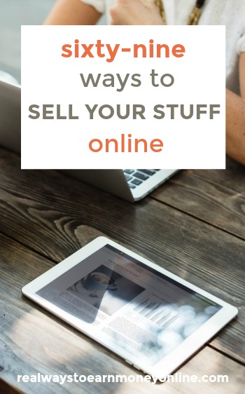 69 ways to sell your stuff online! #workathome #makemoneyonline