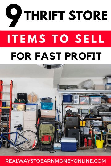 Sell thrift store items for fast profit.