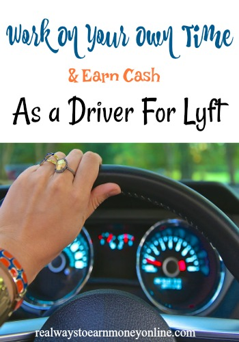 Work on your own time and earn cash as a Lyft driver.