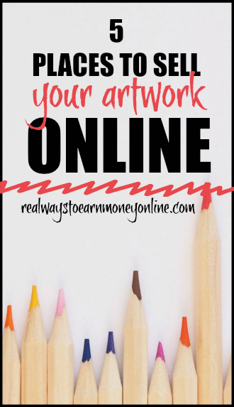 Here's a list of 5 places you can sell your artwork online. A great way to #makemoneyonline!