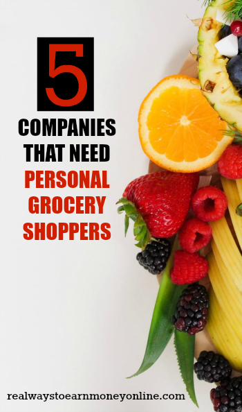 Become a personal grocery shopper and earn extra cash.