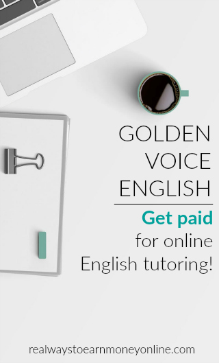 Get paid to tutor English online with Golden Voice English (GVE).