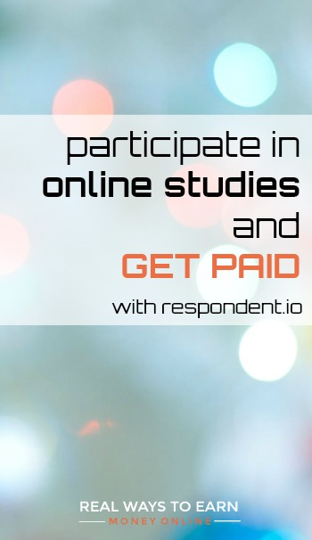 Participate in online studies with Respondent.io and get paid.