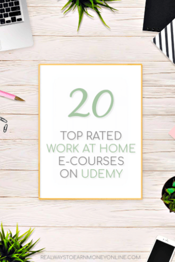 20 top rated work at home e-courses available on Udemy.