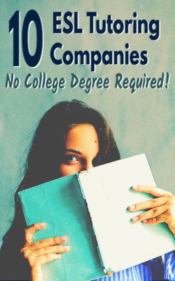 ESL tutoring companies - no college degree required.