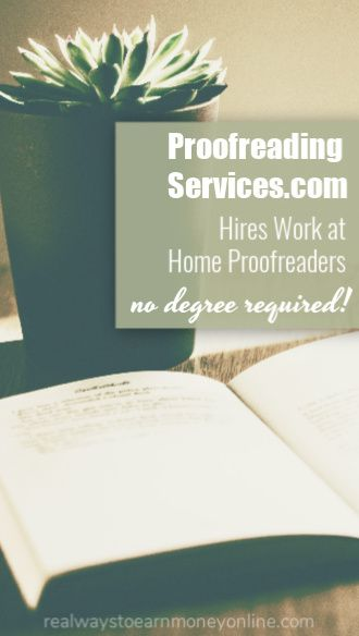 Work at home as a proofreader for ProofreadingServices.com