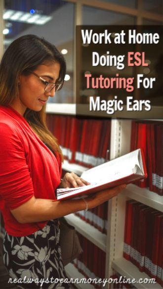 Work at home doing ESL tutoring online for Magic Ears. Pays $18+ hourly!