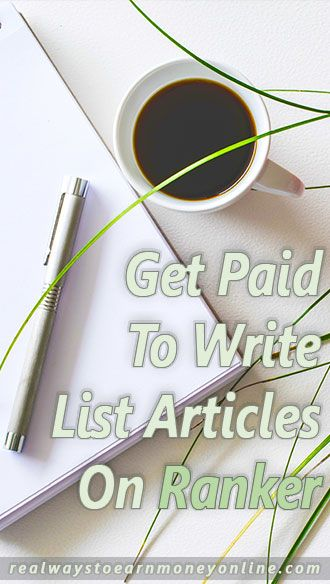 Work online writing list articles for Ranker.