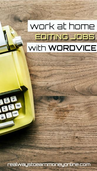 Wordvice review - work at home editing articles.