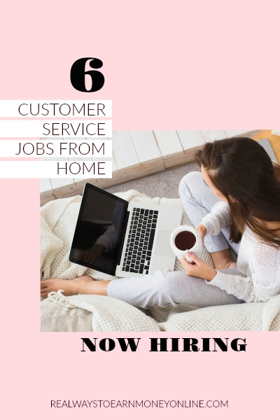 Customer service jobs from home - six companies hiring now! #workfromhome #workathome #workfromhomejobs #onlinejobs #customerservicejobs