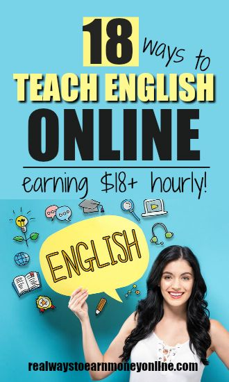 Teach English online from your home. Some of these companies pay $18+ hourly! #realwaystoearn #workfromhome #workathome #wahm #remote #telecommute #eslteaching