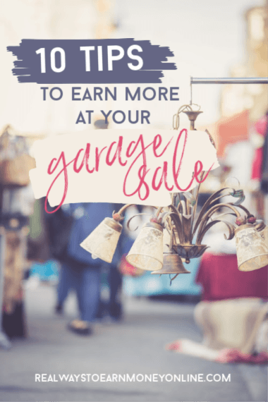 10 tips to make more money at your next garage sale.