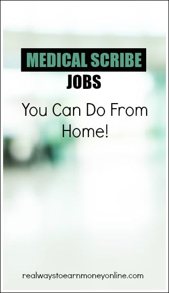 How to work at home as a medical scribe. Five different companies that hire! #workfromhome #workathome #medicalscribe