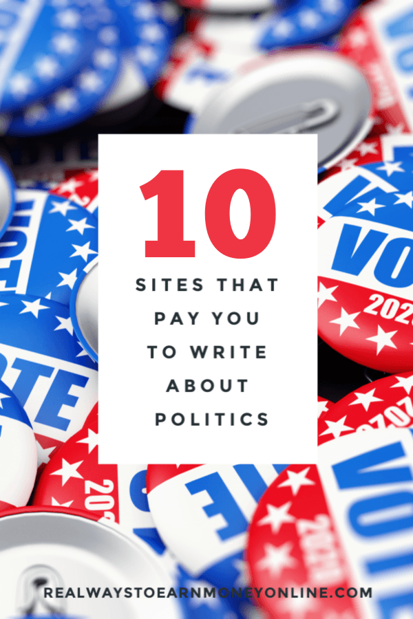 How to get paid to write political articles.