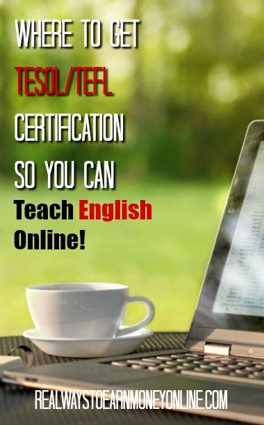 Where to get TESOL/TEFL certification so you can teach English online. #teachenglishonline #teacheslonline #esljobs