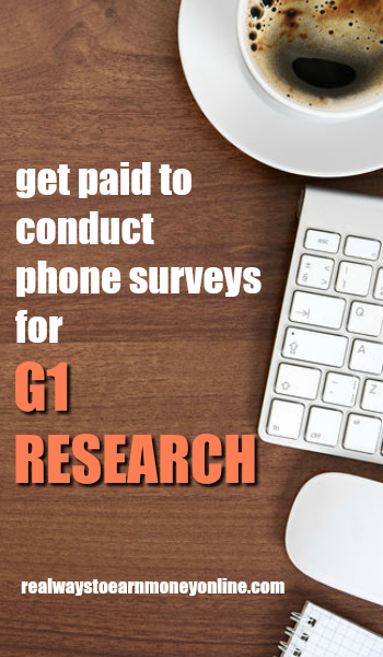 G1 Research - Get paid to conduct telephone surveys.