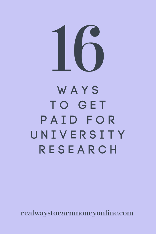 16 ways to get paid to do university research